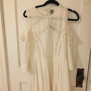 Cold Shoulder White Dress